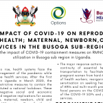 Impact of COVID-19 on RMNCAH, HIV services in